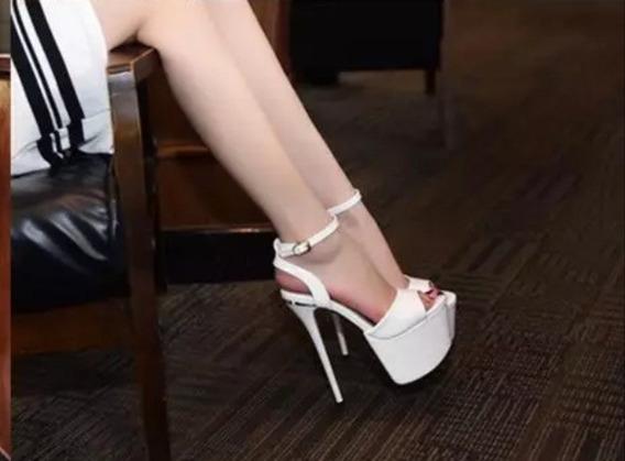 Sandália Salto Alta 17cm Importada Feminina - Frete Grátis