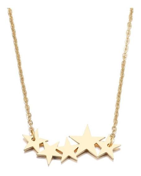 Collar Dije Estrellas Acero Inoxidable