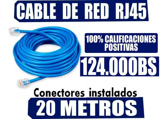 Cable Internet 20 Metros Utp Cat5e Certificado Iso