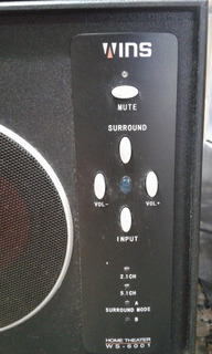 Home Theater Wins Ws 6001 Muy Bueno (5 Parlantes Y 1 Buffer)