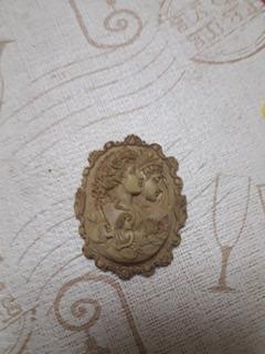 Camafeo Antiguo Piedra Jabón 5 X 3 Cm.