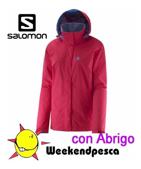 Campera Salomon Elemental Con Abrigo Liquido Xs-s-l