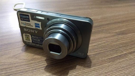 Câmera Sony Cybershot Dsc W570 + Bateria + Cartão 8gb - Sony