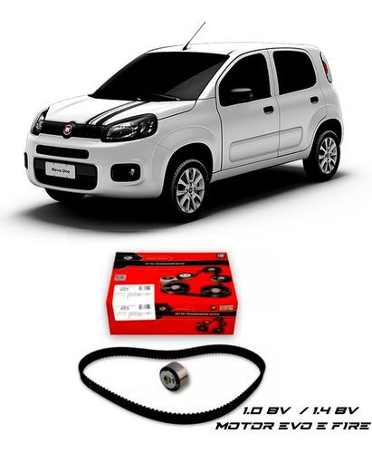 Imagem 1 de 2 de Kit Correia Dentada Novo Fiat Uno 1.4 8v Motor Evo 2015
