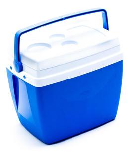 Caixa Térmica Azul 34l Mor Com Alça Porta Copos