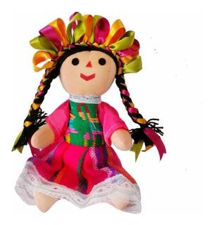 Muñeca Trapo Marias 20cm Artesanal