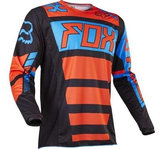 Fox Mx Camisa Infantil 180 Falcon Youth Preto Laranja Yxl