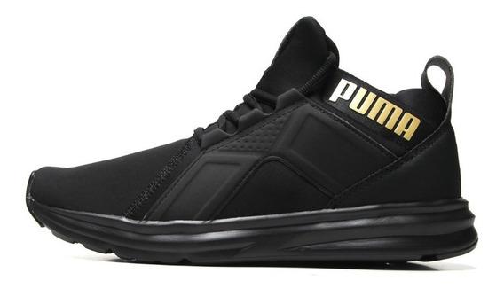 Tênis Puma Enzo Sl Bdp Masculino - Preto E Dourado Original