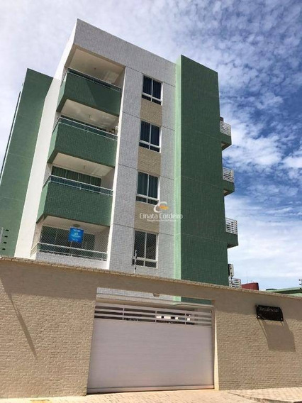 Apartamento Com 2 Dormitórios Para Alugar, 58 M² Por R$ 1.250/mês - Intermares - Cabedelo/pb - Ap1084