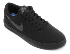 Tênis Masculino Nike Sb Check Solar Cnvs Preto Original Nfe