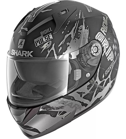 Capacete Moto Shark Ridill Drift-r Fosco Com Viseira Solar