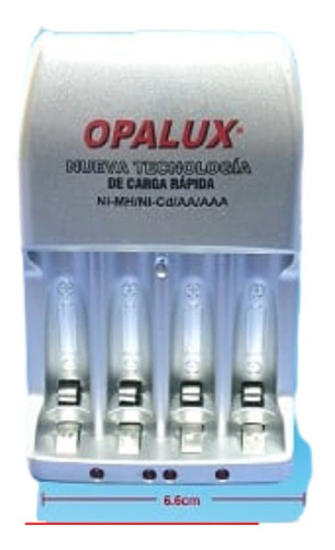 Imagen 1 de 1 de Cargadores Pilas Led Opalux Bateria 8154 220v