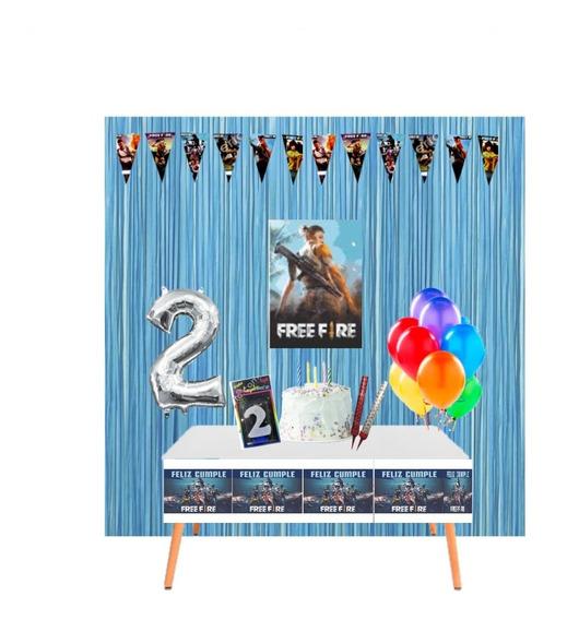 Kit Cumpleaños En Casa - Decoración Cumple Virtual Free Fire