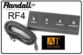 Pedal Footswitch 4 Botões Randall Rf4 C/ Cabo Midi 7 Pinos!