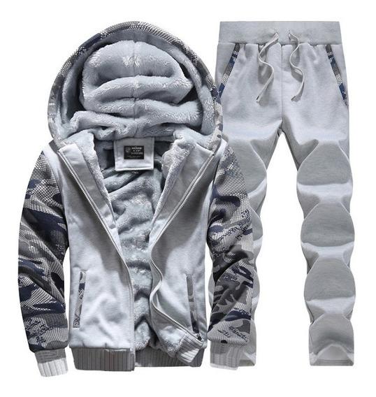 Conjunto Pants Y Chamarra Hombre Casual Sport Invierno