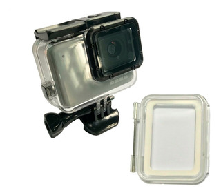 Carcasa Gopro Hero 7 Silver Y White + Tapa Touch Sumergible