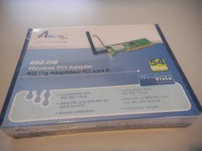 Placa De Rede Airlink 802.11g 54mbps Pci Nova