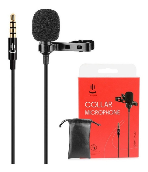Microfone Lapela P/ Celular P2 Android Collar - Yc-lm10