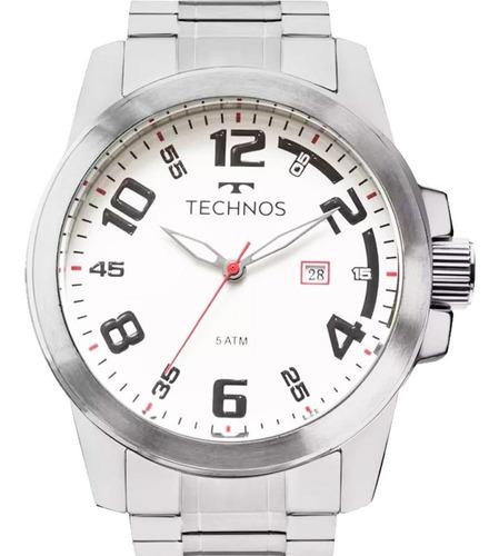 Relógio Technos Masculino Prateado Aço 2115mgr/1b Lançamento