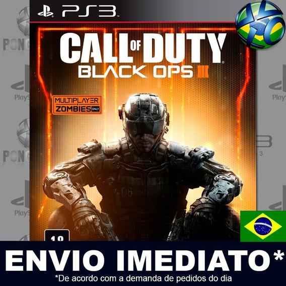 Call Of Duty Black Ops Iii 3 Ps3 Psn Dublado Português Pt Br