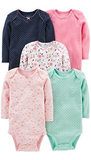 Simple Joys De Carters Pack De 5 Body De Manga Larga U S A