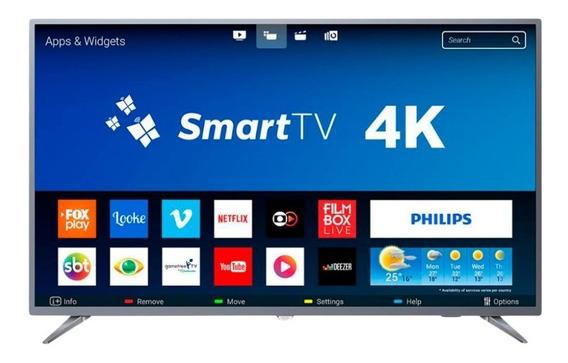 Smart Tv Led Ultra Hd 4k 50 Polegadas Philips 50pug6513/78