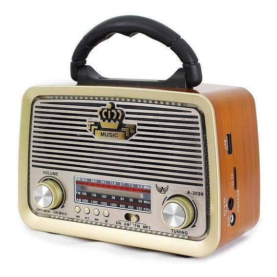 Radio Retro Antigo Vintage A-3099 Altomex Fm Am Usb Sd Mp3