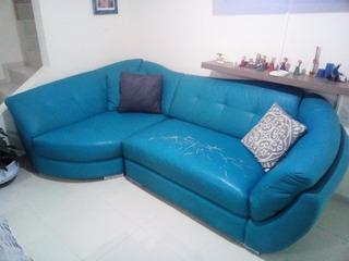 Sala Modular Color Azul En Vinilo