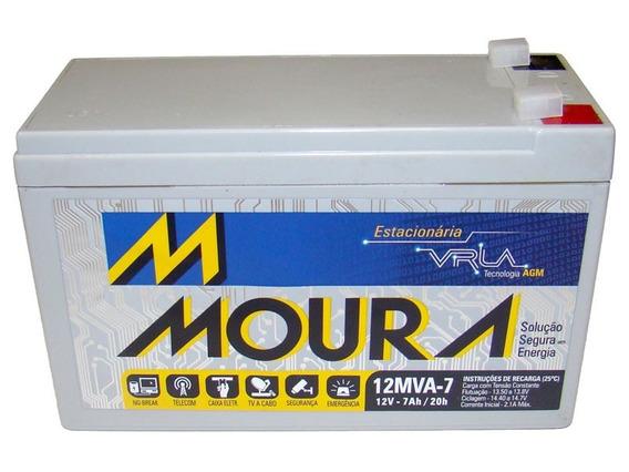 Bateria Estacionaria Vlra Moura 7ah 12v Nobreak Alarme Cftv