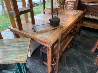 Mesa Comedor Pinotea Madera Reciclada Rústica Vintage