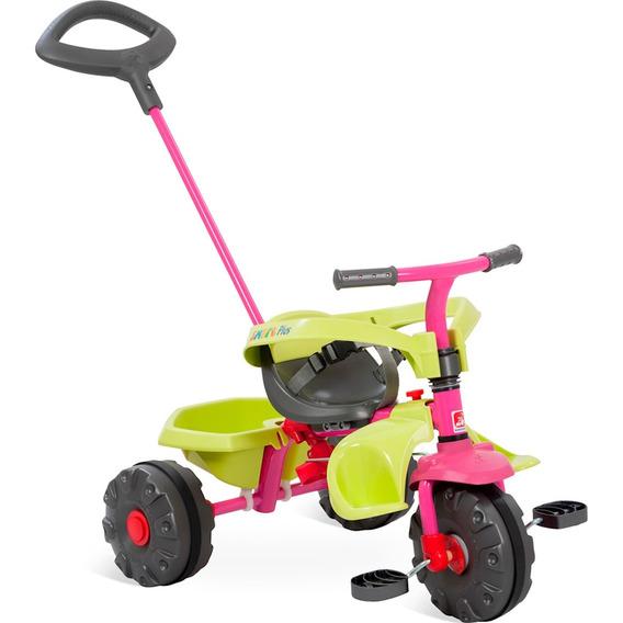 Triciclo Infantil Bandeirante Smart Plus - Rosa/verde