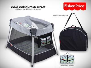 Cuna Corral Para Bebe Fisher Price Nuevo Original