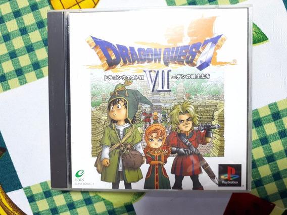 Dragon Quest Vii 7 Original Playstation One Ps1 Psx D8