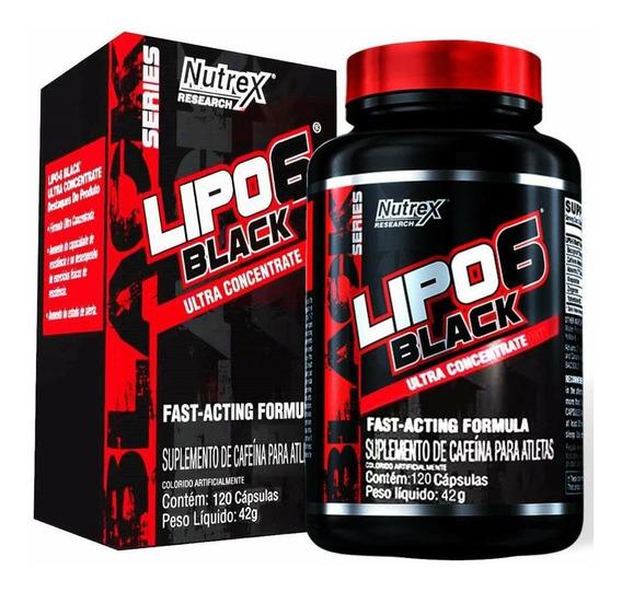 Lipo 6 Black 120 Cápsulas - Nutrex