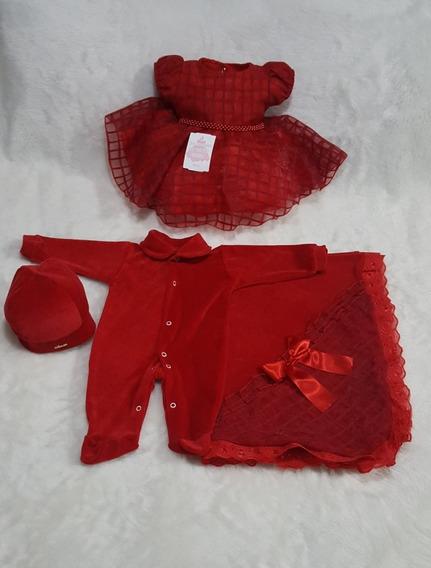 Kit Saída De Maternidade Princesa Perola Vestido Em Organza