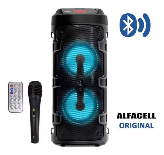 Caixa De Som Bluetooth Amplificada Portátil Bateria /microf