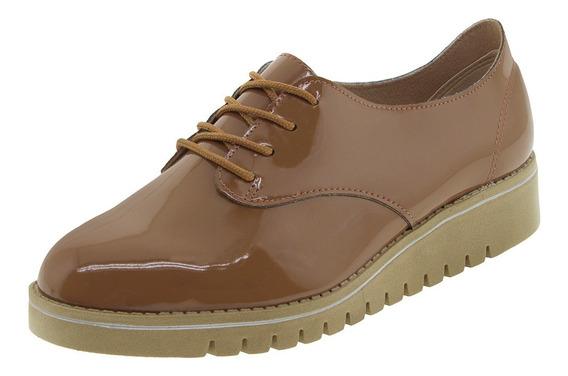 Sapato Feminino Oxford Caramelo/verniz Beira Rio - 4174101