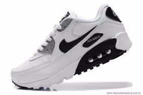 5613ed9e607 Tenis Nike Air Max 90 Feminino Preto E Branco - Calçados