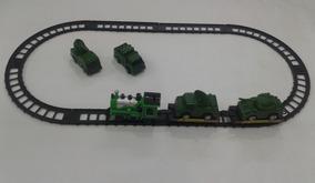 Trem Trenzinho Elétrico Com Trilhos Locomotiva Ferrorama