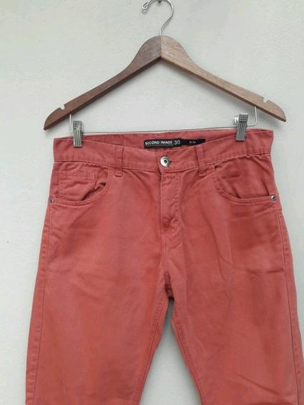 Pantalón Color Ladrillo De Hombre - Talle 30