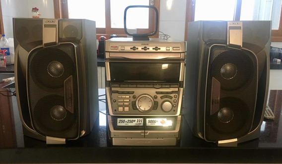 Mini System Sony Grx 9900 5000w Pmpo 500rms Graves Potentes - Vídeo Demonstrativo Atual De Como Se Encontra O Som