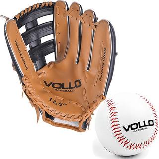 Kit Luva + Bola De Baseball Vollo Original