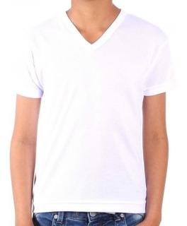 Camiseta Para Sublimación 100% Poliester Cuello En V