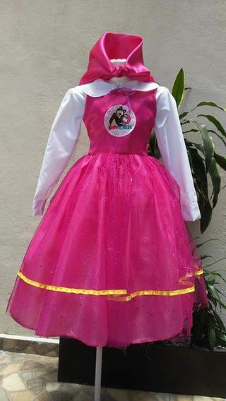 Vestido De Fiesta Masha Y Oso Ropa Bolsas Y Calzado En