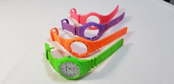 Relógio Original Mormaii Grande Com 4 Pulseiras Ótimo