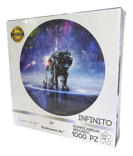 Rompecabezas Redondo Astronauta 1000pz 67.5cm 2mm Original