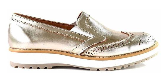 Mocasin Cuero Mujer Briganti Zapato Plataforma - Mccz33065