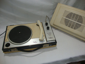 Antiga Vitrola Delta Portatil Toca Discos Anos 80 Vinil