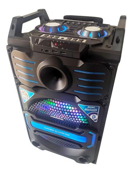 Caixa De Som Karaokê Amplificada Bluetooth Usb Rádio Fm Mp3