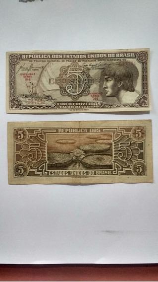 Cédulas Rara De 5 Cruzeiros (índio)